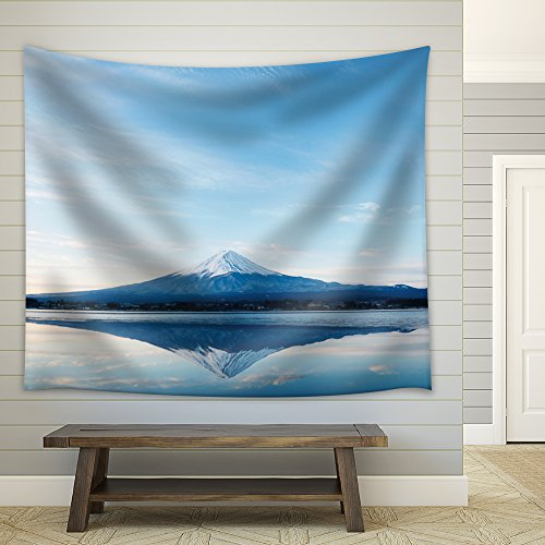 Mount Fuji Being Reflected on a Clear and Steady Lake