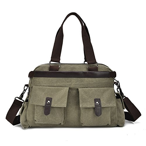 mefly correa simple bolso de lona de algodón bolsa, negro Army green