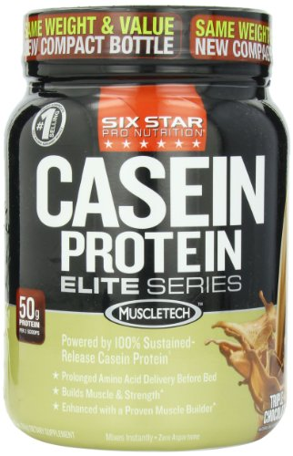 Six Star Pro Nutrition Elite Series Casein, Triple Chocolate, 1.5 Pound (Packaging may vary)