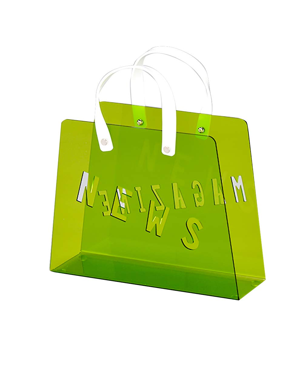 Meubletmoi revistero Bolsa Plexiglás Verde–Revistero Modern Design–Funny Verde