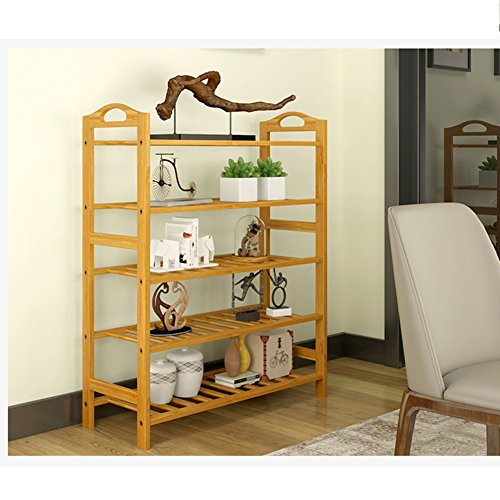 Bamboo shoe rack,100% solid wood ,Flower stand, Bookshelf,Function assemble,Entryway shelf Stand shelves Stackable Entryway bedroom-D 50x25x87cm(20x10x34inch) by franchise house (Image #2)'