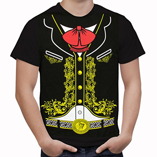 [Viva Mexico Youth Teen Kids Mexican Mariachi T-Shirt Large Black] (Halloween Costums For Kids)