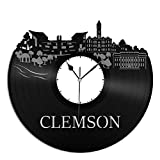 VinylShopUS Clemson Canada City Skyline Vinyl Wall Clock Cityscape Ideal For Room Decorative | Home Decoration