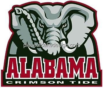 2 Round University of Alabama Crimson Tide Birthday Edible