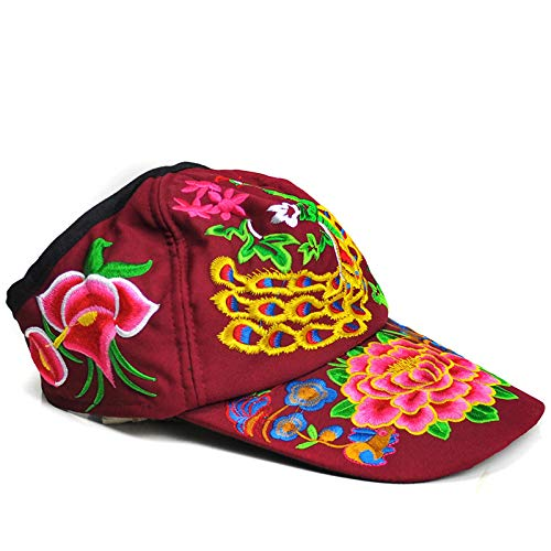 Da Anti Wind Cappello Viaggio Red National Berretto Sole UV Da Cap Yunnan Cappello Ricamato BaF4wqfZ