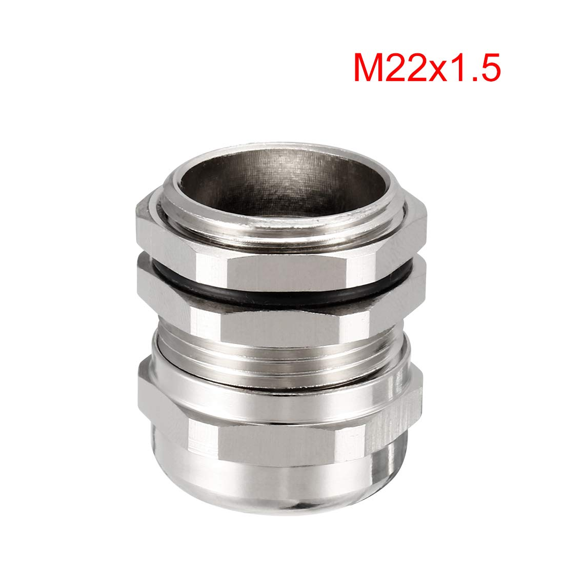 uxcell 2Pcs M12 Cable Gland Metal Waterproof Connector Wire Glands Joints for 3mm-6.5mm Dia Range a18032200ux0354