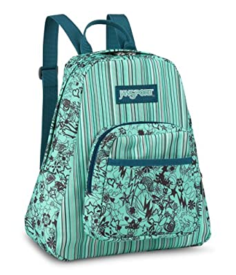 Amazon.com: JanSport Half Pint Backpack (Blue/Baby Stripe): Clothing
