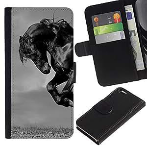 iBinBang / Flip Funda de Cuero Case Cover - Mustang Mane galope semental - Apple Iphone 6 4.7
