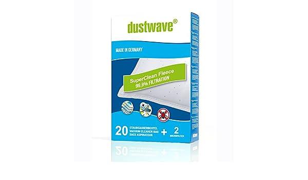 /H 64//H64/ /Aspiradora de dustwave/® Marca Bolsa para el polvo Fabricado en Alemania 20/Bolsas para aspiradoras Hoover/ Incluye Micro filtro