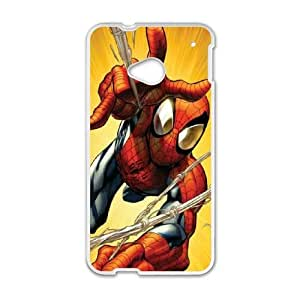 HTC One M7 Cell Phone Case White Spider man Bhlbx