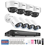 Annke 8CH POE Security Camera System with 4x 2.0 MP Dome Cameras & 4x 2.0 MP Bullet Cameras and 6.0MP High Definition Real-time Live Viewing NVR (No HDD)