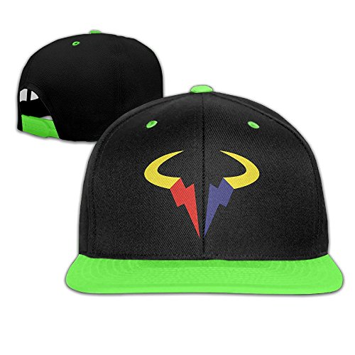 Grand Slam Baseball Costume (WYUZHEN Kid's Rafael Nadal Tennis Player Logo Hip-hop Snapback Hat Caps KellyGreen)