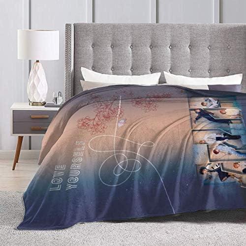 NBSZZDKL Manta de Franela 3D BTS para Sof/á Cama sof/á Estampado Acogedor Manta de decoraci/ón de Dormitorio de Felpa para ni/ños Adultos-El 130x150cm