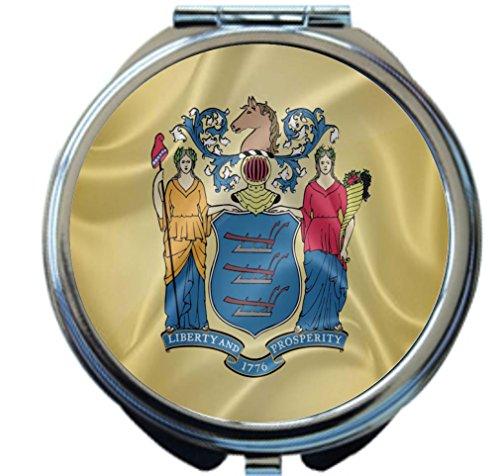 Rikki Knight New Jersey State Flag Design Round Compact (Trenton Mirror)