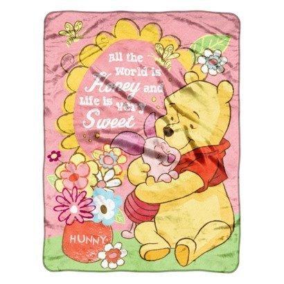 Winnie the Pooh Micro Raschel Throw Blanket