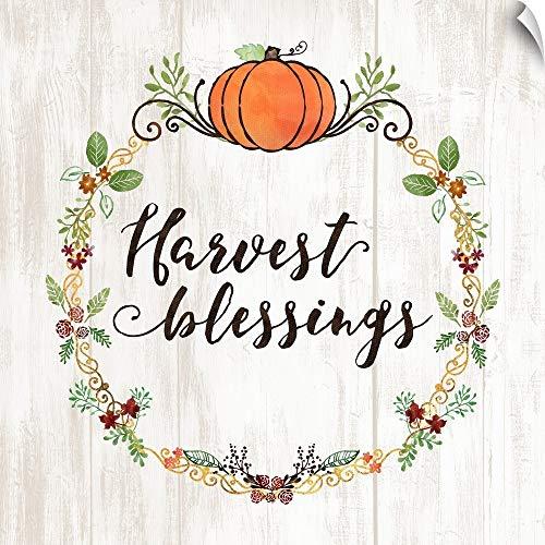 CANVAS ON DEMAND Pumpkin Spice Harvest Blessings Wall Peel Art Print, -