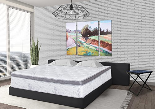 Olee Sleep Euro Box Hybrid Memory Foam Innerspring Mattress 12SM01F, Full, 12