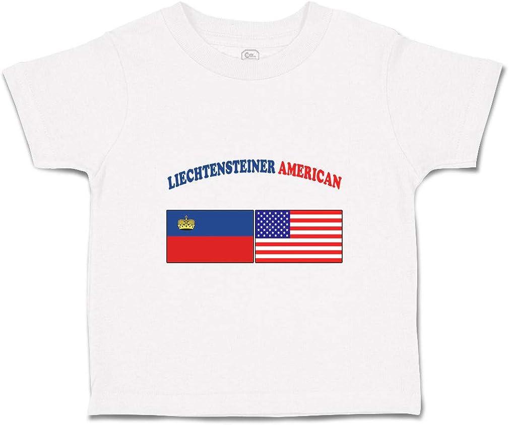 Custom Baby /& Toddler T-Shirt Liechtensteiner American Cotton Boy Girl Clothes