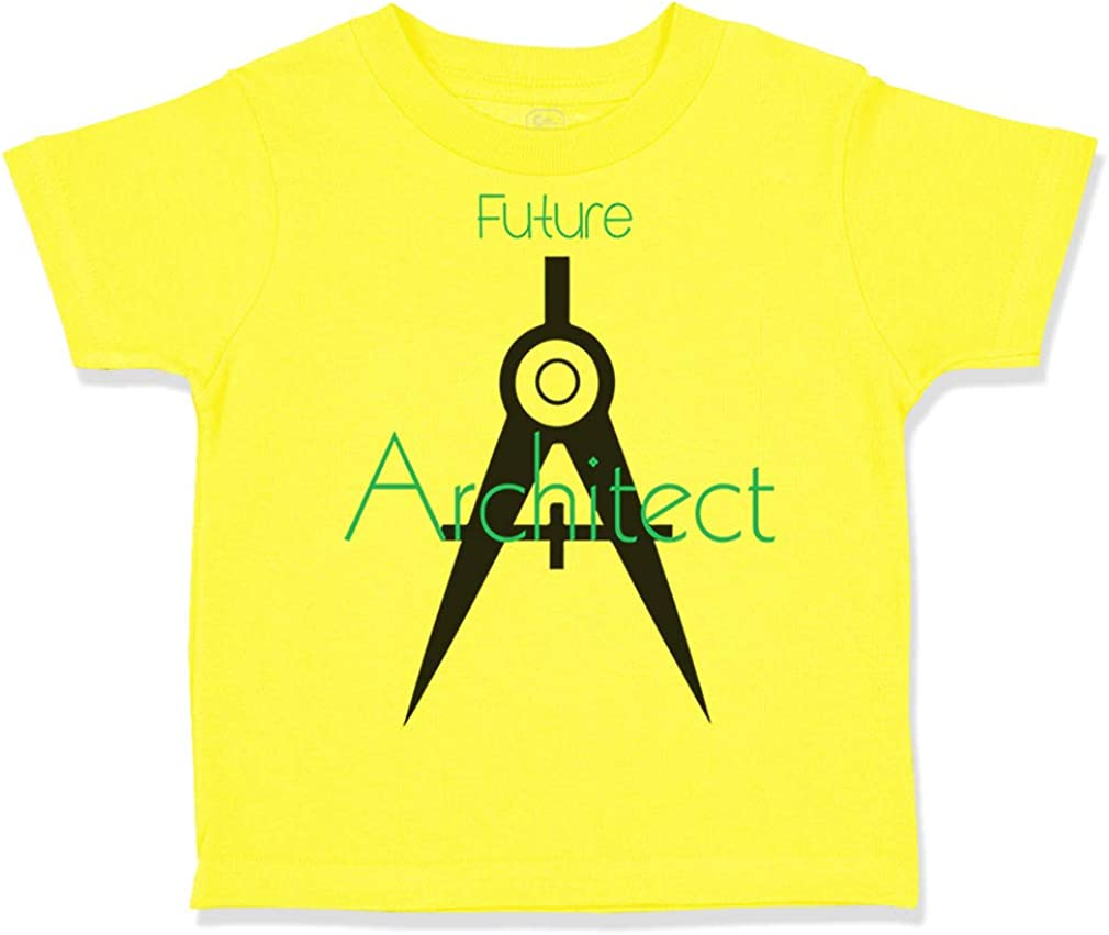 Custom Toddler T-Shirt Future Architect Funny Style A Cotton Boy /& Girl Clothes