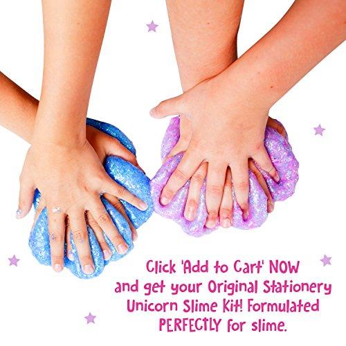51r2u3Q2koL - Original Stationery Unicorn Slime Kit Supplies Stuff for Girls Making Slime [Everything in One Box] Kids Can Make Unicorn, Glitter, Fluffy Cloud, Floam Putty, Pink