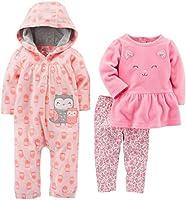 Simple Joys por Carter 's Niñas' 3piezas Playwear Set, Búho rosa, 6-9 Months