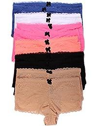 Youmita 12 Pack Lace Boyshort Panties