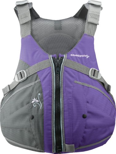 (Stohlquist Women's Flo Life Jacket/Personal Floatation Device (Purple/Gray,)