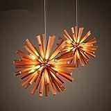 Arturesthome Dandelion Style Chandelier Wood Pedant Lamp