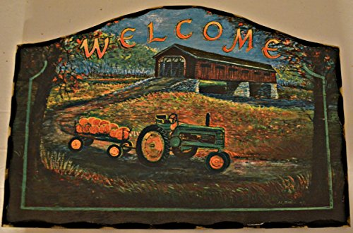 Home Decor Hanging Wood Sign With Curved Rustic Black Border. Measurements Are 16 1/4 x 11 x 1/4 Inches. Sign Saying
