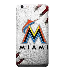 i5/5S Shock Proof Case,MLB Miami Marlins Hard Back Shell Case Compatible For iphone 5/5S