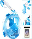 Bestlus Full Face Snorkel Mask Foldable Version 3.0 Panoramic 180° View for Adults
