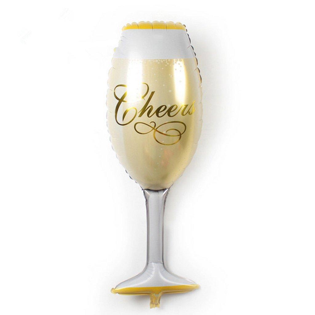 MagiDeal 2pcs Globo de Aluminio de Papel Taza de Champán Decoración de Cumpleaños Fiesta Forma de Botella de Champán y Copa de Cerveza: Amazon.es: Juguetes ...