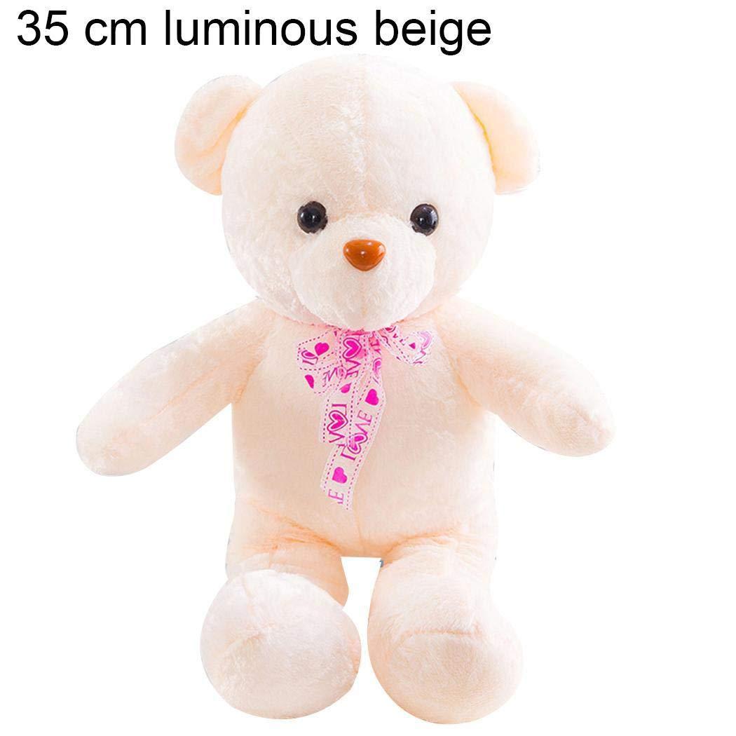 Kaimus Plüschtier Puppe Kuscheltier Teddybär Spielzeug, Kinder Baby Plüsch Cute Bear Glühende Musik Puppe Spielzeug