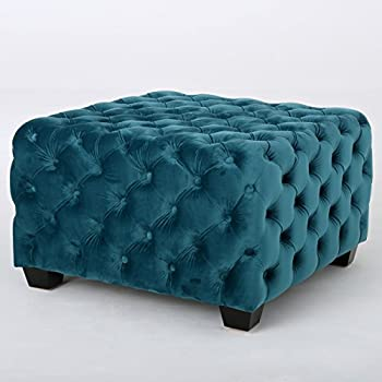 Amazon Com Great Deal Furniture Provence Dark Teal Tufted