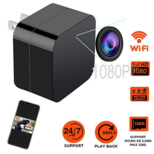 MEYUEWAL Wireless Hidden Camera USB Security Camera Supports 128GB SD Memory Card, 1080P HD Resolution, 5V2A Wall Charger