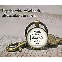 Math is an integral part of Life keychain, math keychain math geek gift math teacher gift math student gift mathematics key chain