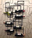 Wall Mounted Wine Holders Metal Iron Wall Wine Rack Bottle Holder Bar Displays Decoration Display Bar Home Organizer