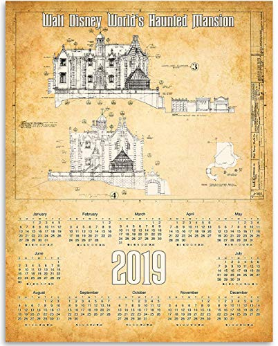 2019 Calendar - Walt Disney World Haunted Mansion