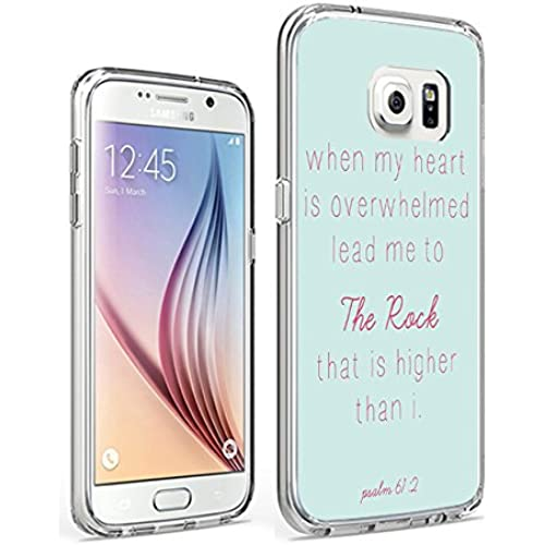 Galaxy S7 Slim Case Protective Cover for Samsung Galaxy S7 When my Heart is Overwhelmed Lead Me to The Lord that is higher Than I Psalm 61:2 Sales