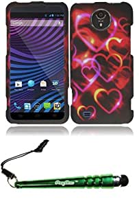 FoxyCase(TM) FREE stylus AND For ZTE Vital N9810 Rubberized Design Cover Case - Colorful Hearts cas couverture