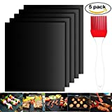 gel kitchen mats walmart Grill Mat Set of 5- 100% Non-stick BBQ Grill & Baking Mats - FDA-Approved, PFOA Free, Reusable and Easy to Clean - Works on Gas, Charcoal, Electric Grill and More - 15.75 x 13 Inch