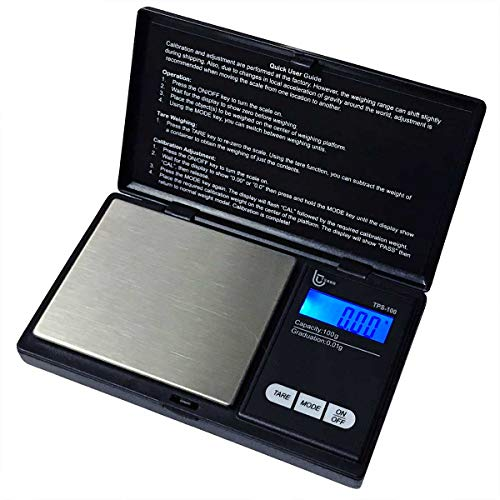 Tesso Digital Mini Pocket Scale High Accuracy Jewelry/Food/Medicine Scale, Electronic Smart Scale with Slim Design (100g x 0.01g)