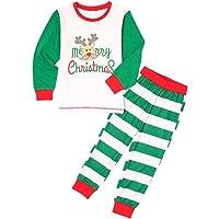 Hzjundasi Conjunto Pijamas Familia Navidad - Navidad Impreso Pijama Padre-Hijo Ropa de Dormir Manga Larga + Pantalones…