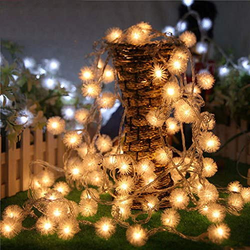 Lyperkin 20 LED Christmas Cute Delicate Dandelion Shaped Curtain Copper Wire Fairy Strings Lights Wedding Party Decor Window Waterproof Light for Backdrop Home Bedroom Indoor Decorations(8.1Feet) -