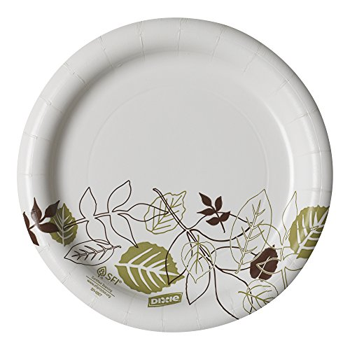 Dixie UX7WS Pathways WiseSize Paper Plate, 6.87