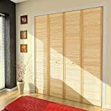 Closet Door, Bi-fold, Kimberly Bay Traditional Louver-Louver Clear 80 in. x 24 in. (80x24)