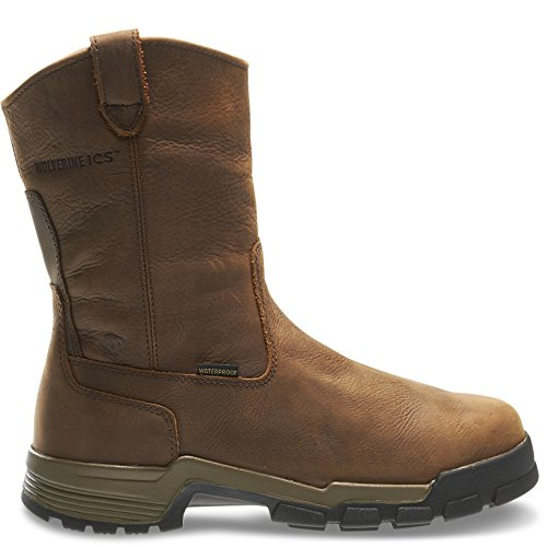Wolverine Gear ICS Waterproof Wellington Composite-Toe EH Work Boot Men 9 - Brown