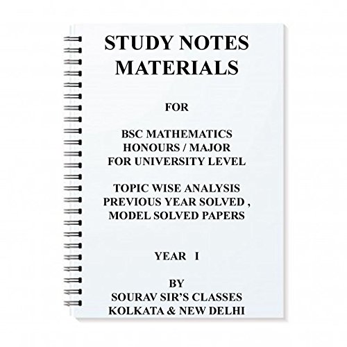 Amazon in: Buy STUDY NOTES MATERIALS FOR BSC MATHEMATICS