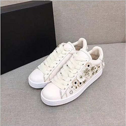 Confort Black Printemps pour Blanc Baskets à ZHZNVX Plat Chaussures Talon en Cuir Femmes Noir yPqwf1fOY