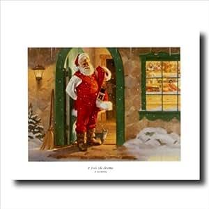Old st nick santa clause christmas wall for Christmas wall art amazon